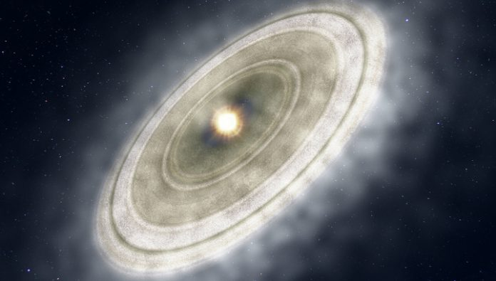 A huge cloud of gas forces review of the theory of formation of planets