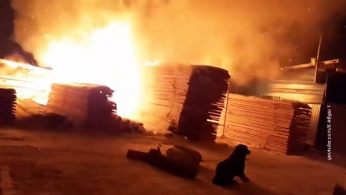 A major fire near Krasnoyarsk. Video