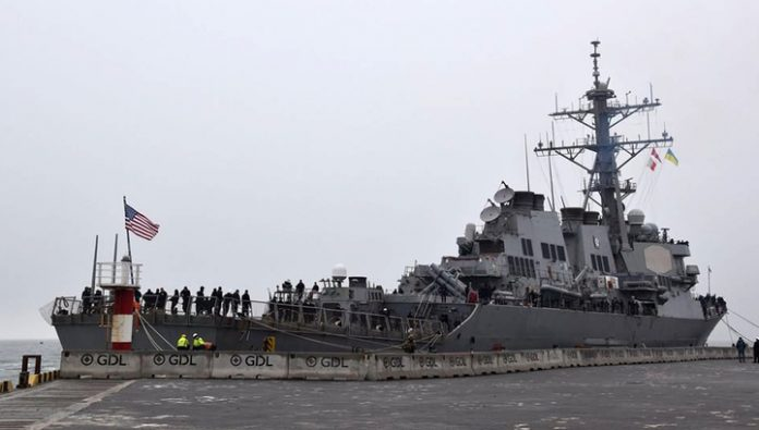 American destroyer showed up in the port of Odessa