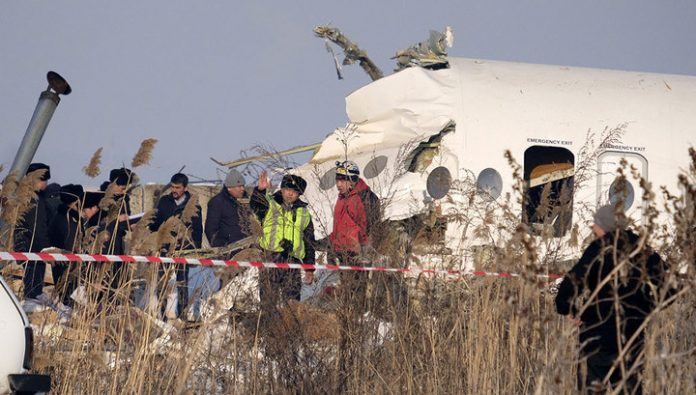 Found flight recorders of the crashed in Kazakhstan passenger plane
