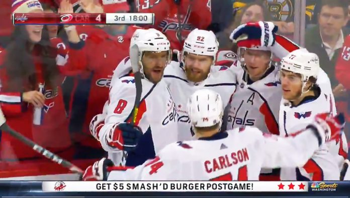 Goals Kuznetsov and Ovechkin not saved Washington from defeat