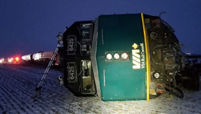 In Canada, the train derailed, there are victims