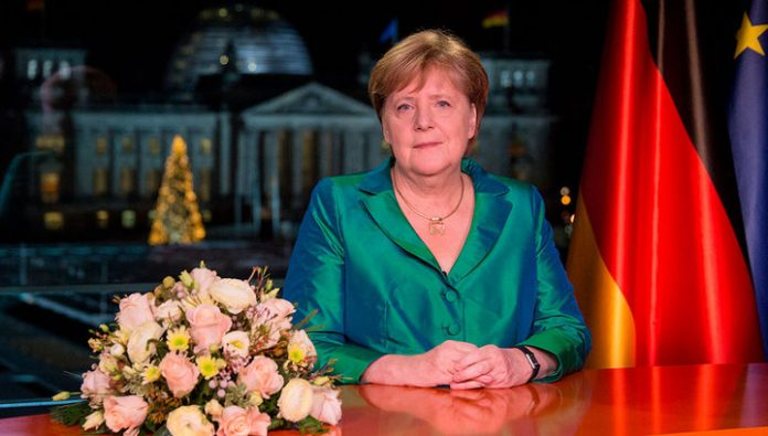 In his new year's speech Angela Merkel addressed the issues of climate