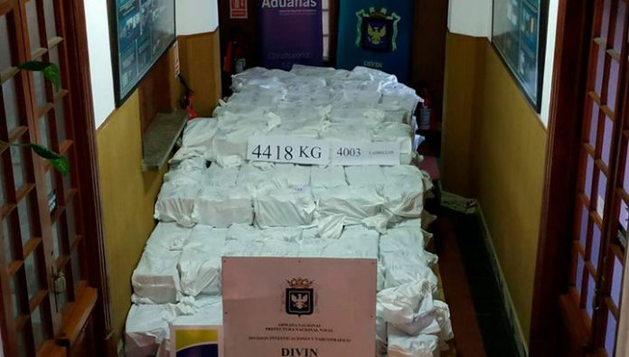 In Uruguay seized a shipment of cocaine worth more than $ 1 billion
