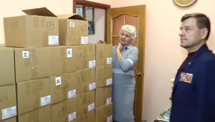 Kaluga veterans of the Russian military handed over in Syria, the gifts for the New year