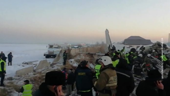 Liner double-hooked the runway. The first version of the plane crash in Kazakhstan