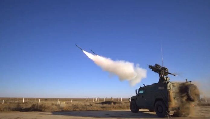 Military tests showed the latest anti-aircraft missile system
