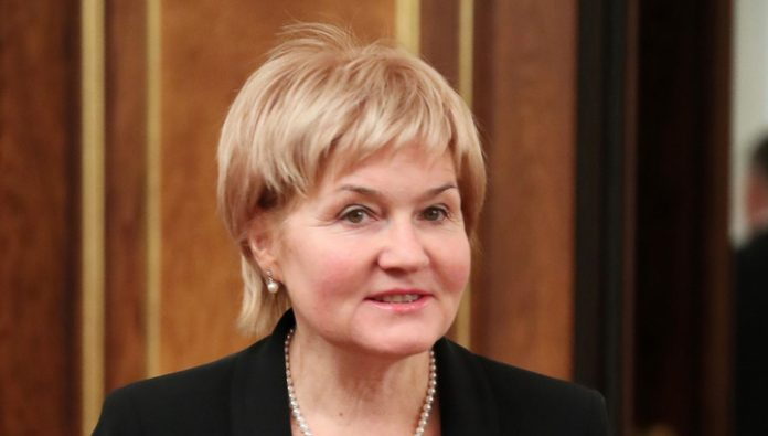 Olga Golodets, head of the Council for development of physical culture and mass sport