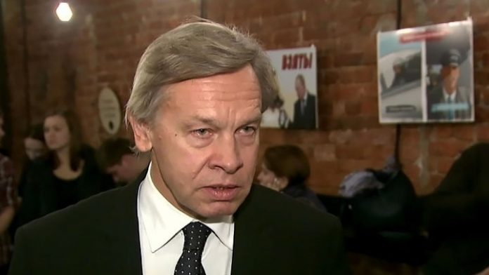 Pushkov said on a statement by the state Department on the