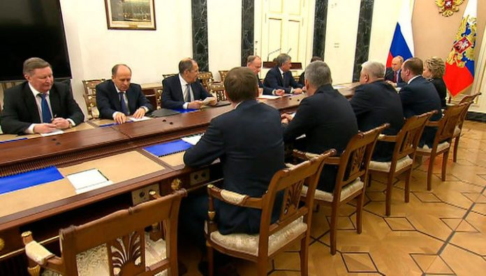 Putin held an operational meeting with members of the security Council