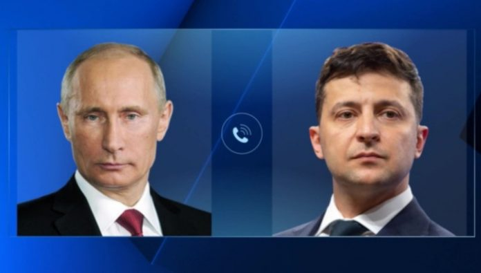 Putin Zelensky and congratulated each other a happy New year