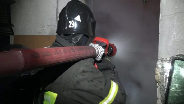 Six people were injured during a fire in the Udmurt mental hospital