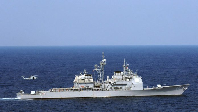 States cut spending on the Navy. Going under the knife missile cruisers