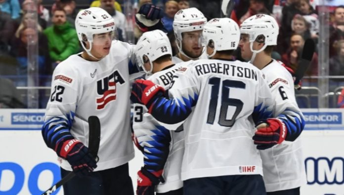 Team USA beat the Czech Republic team in the match of the youth world championship