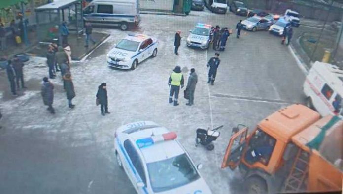 The consequences of a collision of KAMAZ children in Kotelniki videotaped