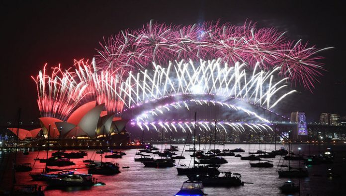 The fireworks and mass celebrations: the world welcomes the year 2020