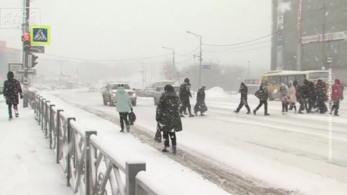 The Kamchatka Peninsula was in the grip of bad weather
