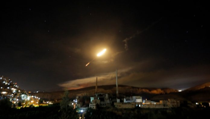 The Syrian military repelled an Israeli missile attack