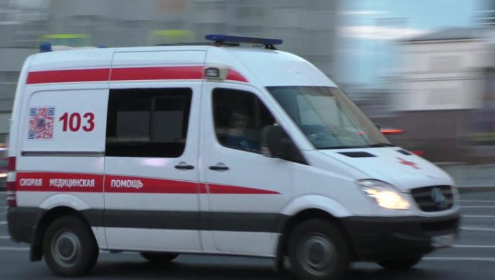 Truck knocked down two girls in the crosswalk near Moscow