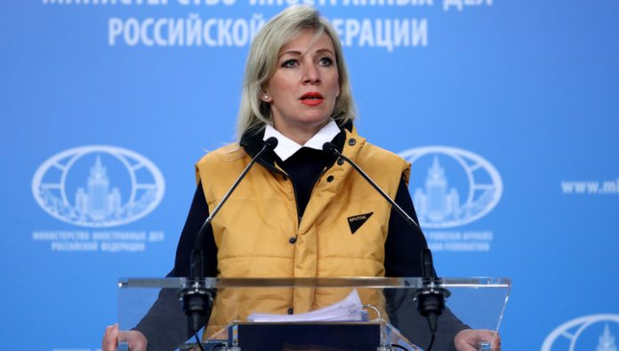 Zakharov held a briefing in the yellow vest, supporting Sputnik Estonia