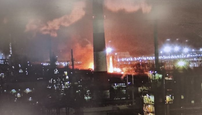 A powerful explosion occurred at the oil refinery in Ukhta