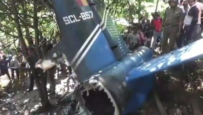 Air force of Sri Lanka, crashed near residential buildings in the South
