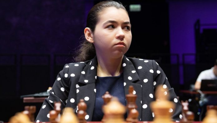 Aleksandra goryachkina took the lead in the match for the chess crown