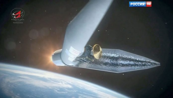 Americans have seen unidentified objects, separated from the Russian military satellite