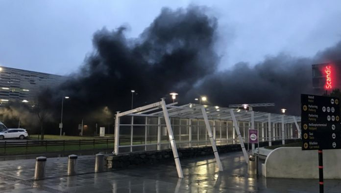 Because of the fire in Stavanger, Norway have closed the airport