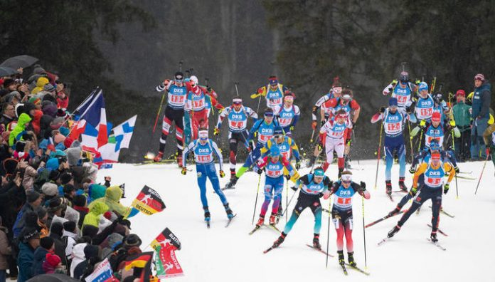 Biathlon. The French won the relay at the world Cup, the Russians – the fourth