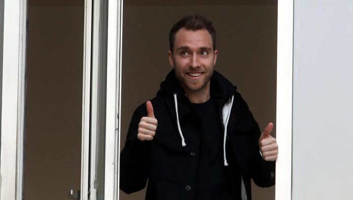 Christian Eriksen arrived in Milan to sign with inter