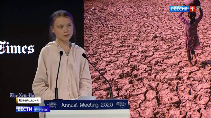 Crossed two different worlds: Thunberg and trump spoke at the economic forum in Davos