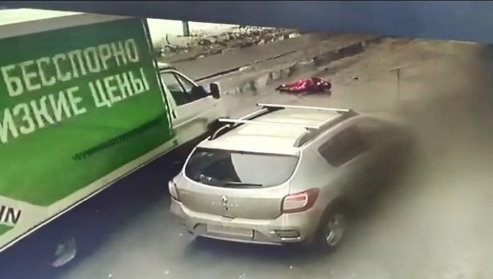 Driver death moved 78-the summer woman-the pedestrian in Cheboksary. Video