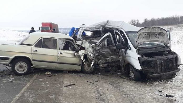 Four people were killed in the accident near Saratov