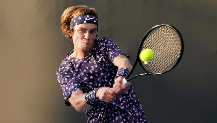 He was not allowed Rublev in the quarterfinals of the Australian Open