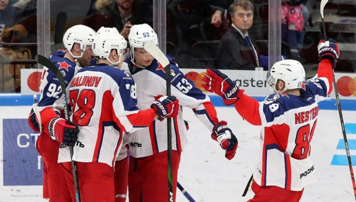 Hockey players of CSKA scored three unanswered goals in the gate