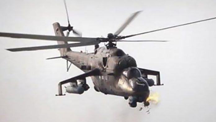 In Afghanistan fell to a military helicopter