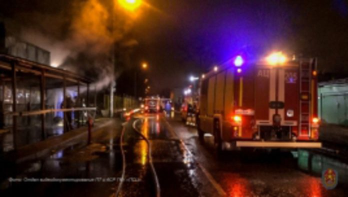 In Domodedovo the building caught fire on the area of 1800 square meters