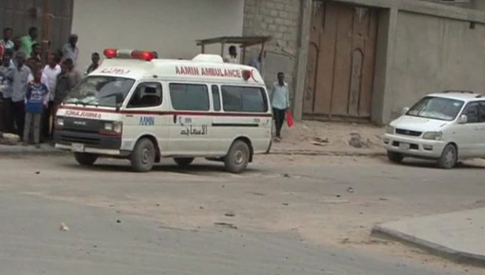 In the government quarter of the capital of Somalia explosion