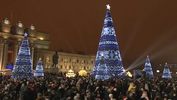 In the new year festivities took part 6.5 million people