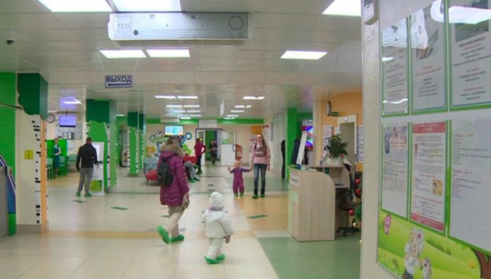 In the South-West of Moscow lit up children's clinic