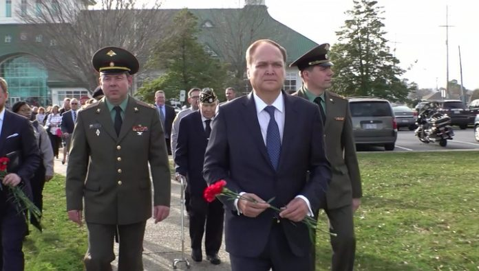 In the United States honored the memory of Soviet pilots during the Second world war