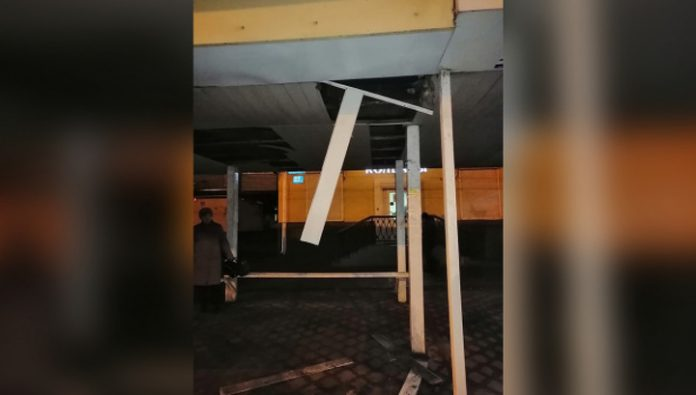In Voronezh the roof of the spot collapsed to the woman