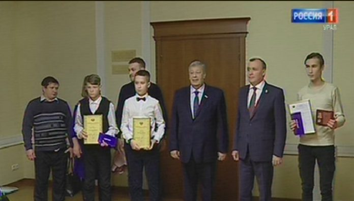 In Yekaterinburg, presented state awards to three of the Sverdlovsk teenagers