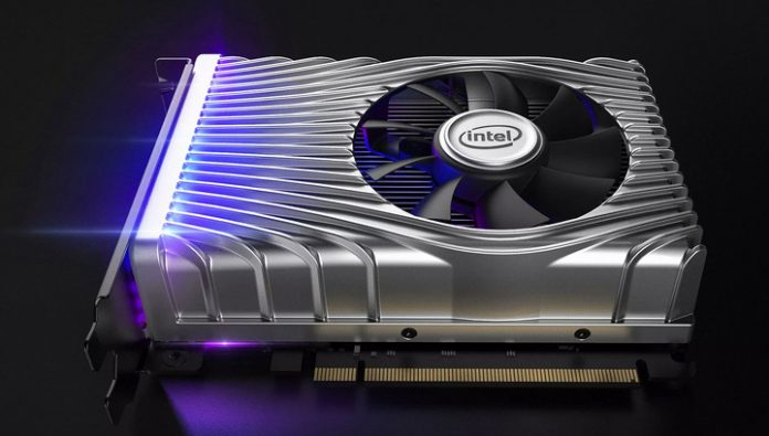 Intel showed its first discrete graphics card
