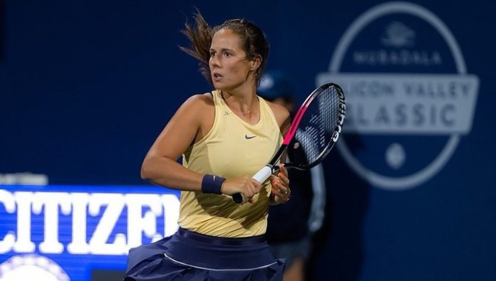 Kasatkina in the second round of the tennis tournament in Auckland