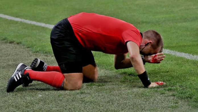 Malta soccer player punched a referee and was arrested right on the field