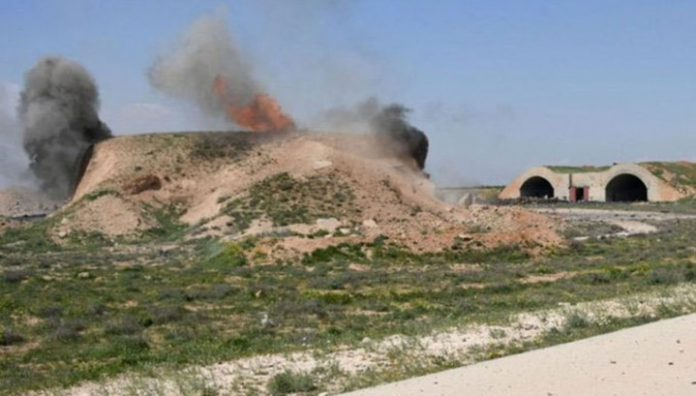 Media reported an air attack on the air base, the Syrian air force in HOMS