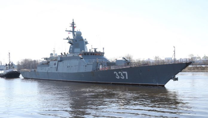 Modernized Russian Corvette has experienced new weapons