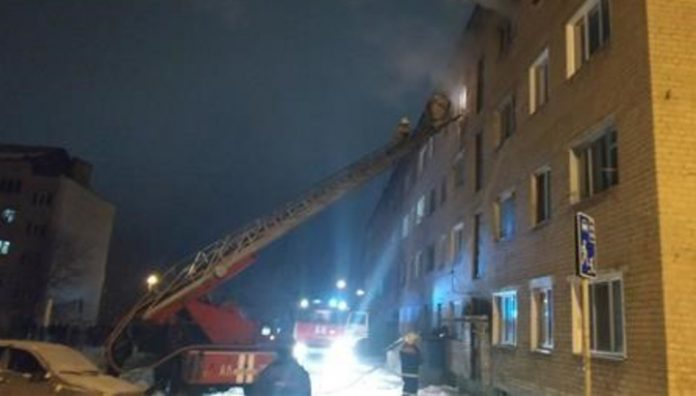 More than 90 people were evacuated from a burning hostel